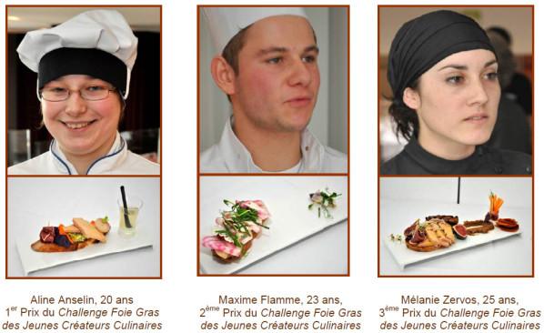 3premiers lauréats foiegras 2010