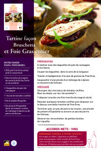 Fiche recette B RECTO - Conseils Cavistes 2013