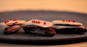 Bouchés de bananes sèches au Magret et Foie Gras