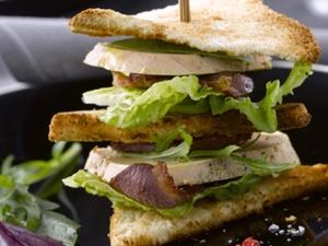 """La tendance """"Club Sandwich"""" au Foie Gras"""