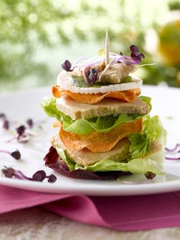Le « Club Sandwich » au Foie Gras et fraîcheur potagère