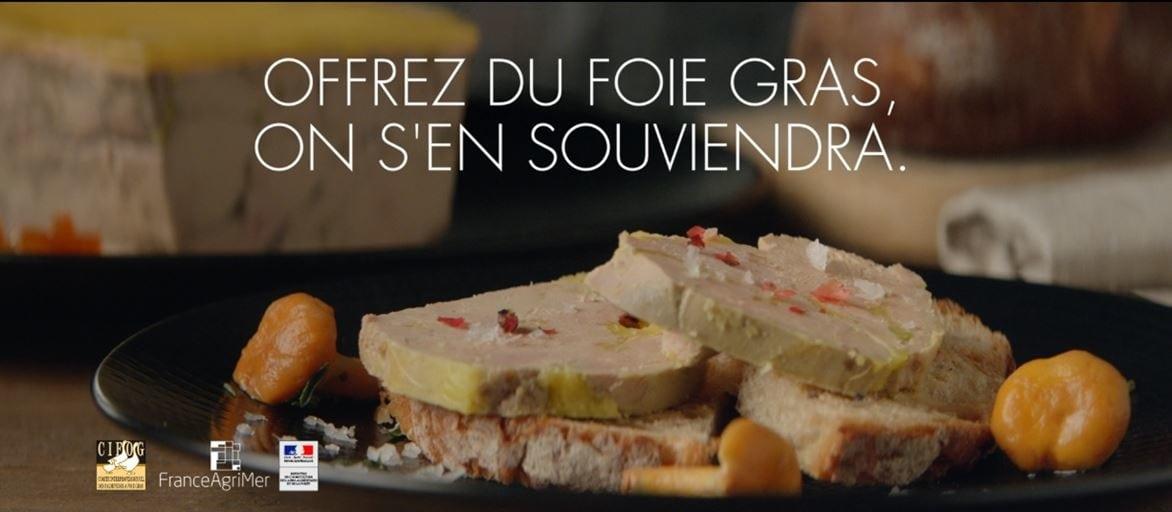 Le Foie Gras fait son grand retour à la TV : « Offrez du Foie Gras, on s'en souviendra »
