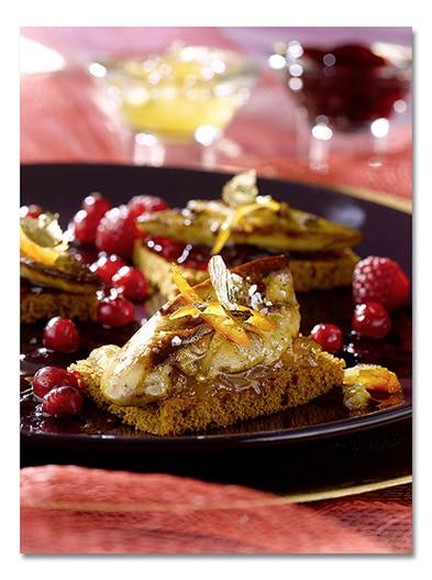 Le foie gras po l sur pain d pices et fruits rouges le - Quantite foie gras par personne ...