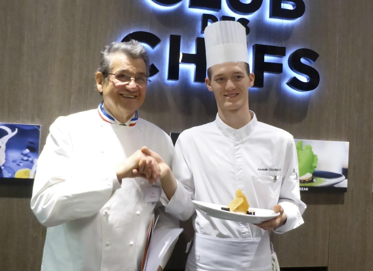 Amandin Colvray accompagné du célèbre Chef Meilleur Ouvrier de France Guy Legay, ex-Chef du Ritz