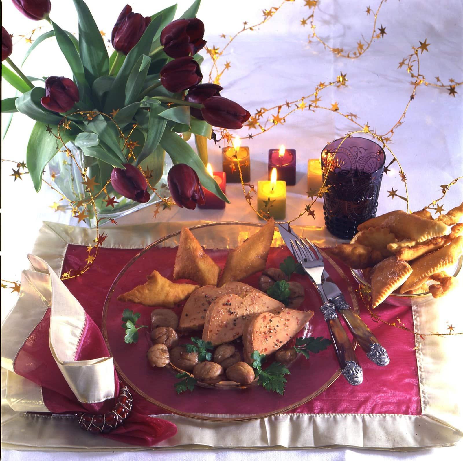 Avec le Foie Gras : Une idée déco pour une jolie table en fête !