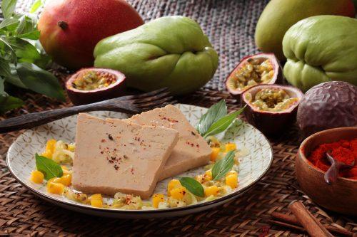 Recette exotique : christophine, mangue, fruits de la passion et Foie Gras !