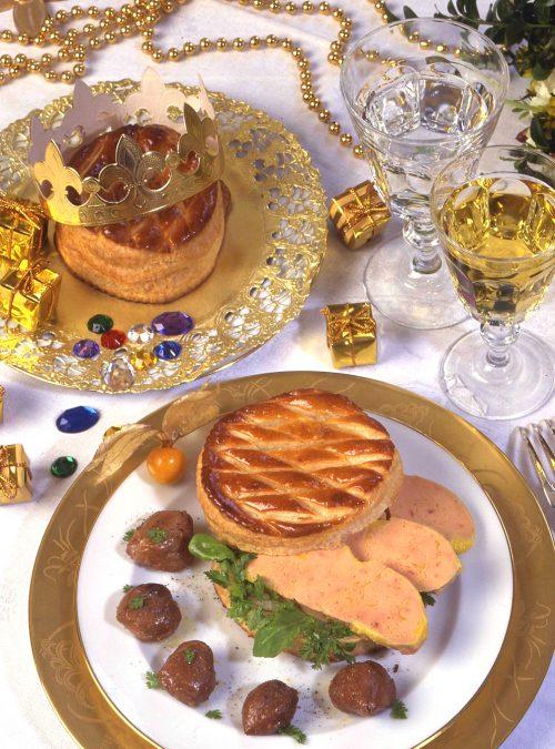 La galette au Foie Gras et marrons poêlés