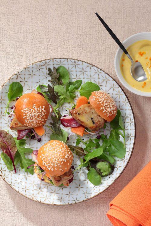 Idée recette : Les mini-burgers Foie Gras poêlé et Magret Fumé