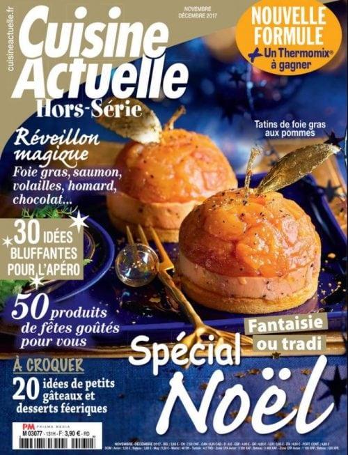 Dans le magazine Cuisine Actuelle : Le Foie Gras est à l'honneur !