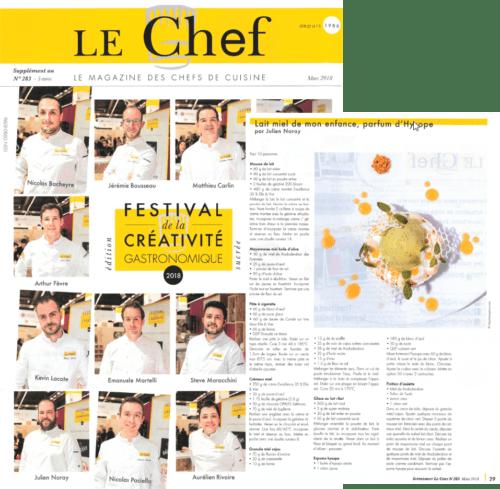 Ancien lauréat amateur du Concours Foie Gras, Julien Noray est maintenant un Chef pâtissier reconnu!