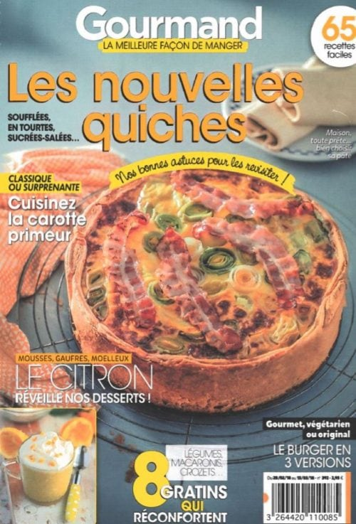 Des miniburgers au Foie Gras mi-cuit dans le magazine Gourmand