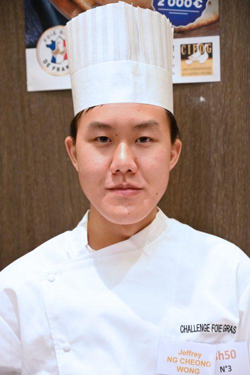Jeffrey Ng Cheong Wong Lauréat du 4e prix du Challenge Foie Gras 2020 des jeunes créateurs culinaires