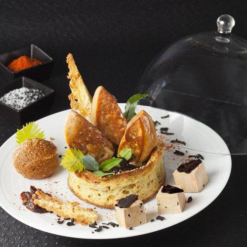 Une belle assiette avec du Foie Gras au restaurant : on en rêve !